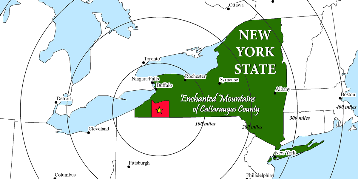 Cattaraugus County, the Enchanted Mountains of New York State