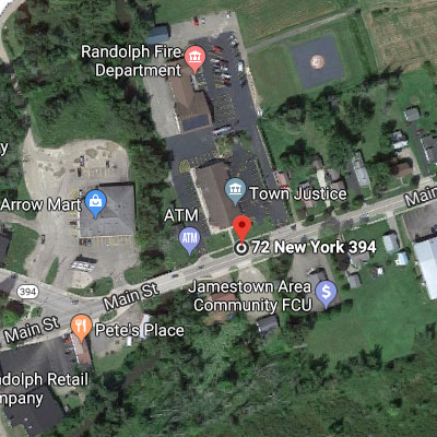 Preview of map of Amish Trail Welcome Center in Randolph, NY