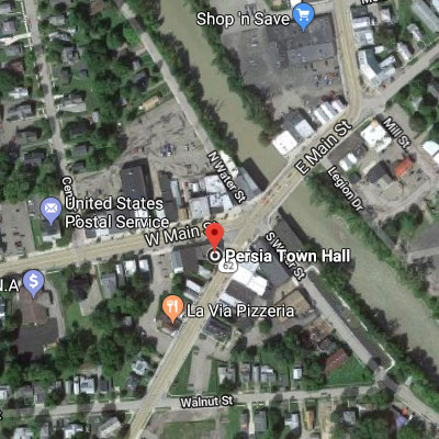 Preview of map of Persia Town Hall in Gowanda, NY