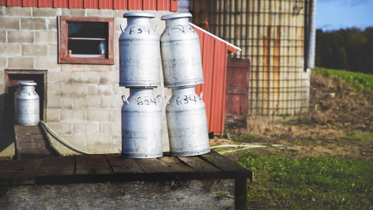 Milk Cans along the Trail- Belle Idee Photography